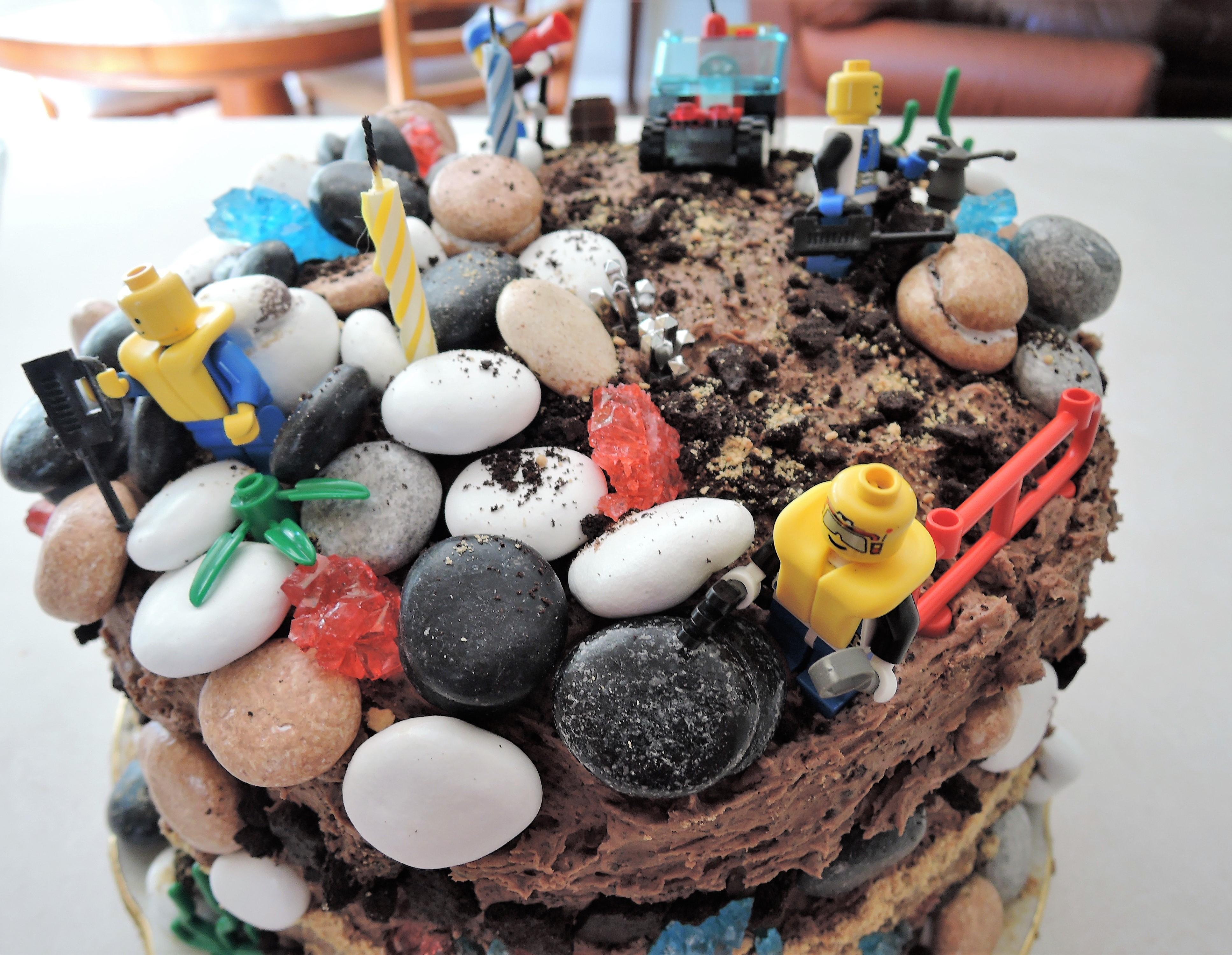 Geology Themed Chocolate Birthday Cake