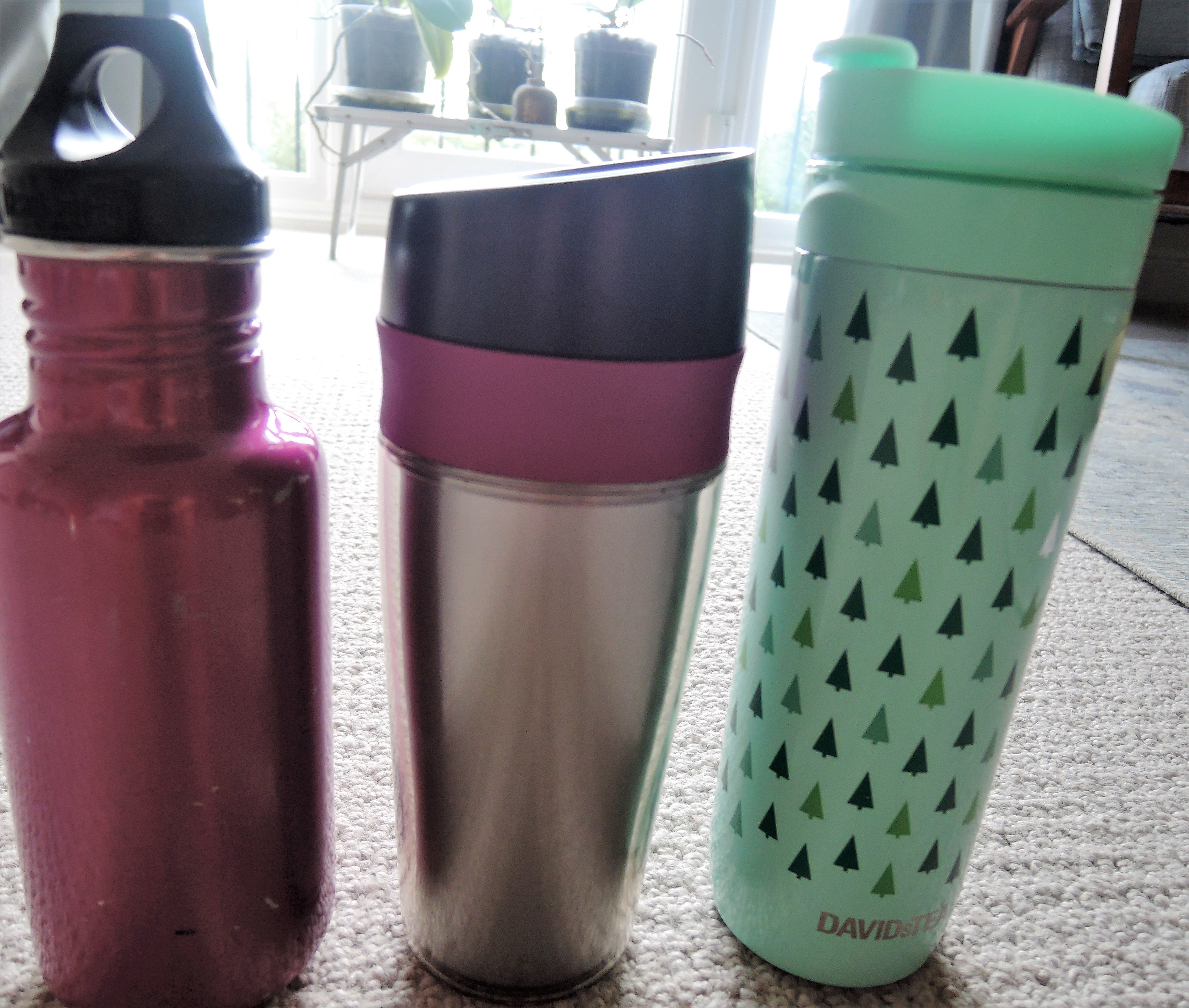 Water Bottle and Travel Mugs