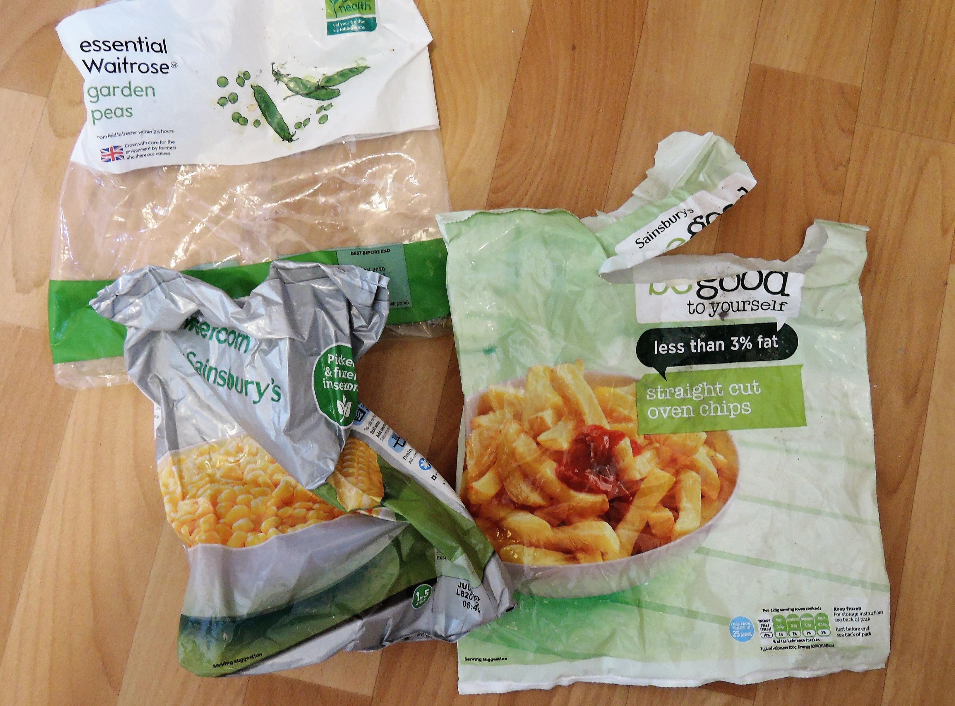 Frozen food plastic packaging