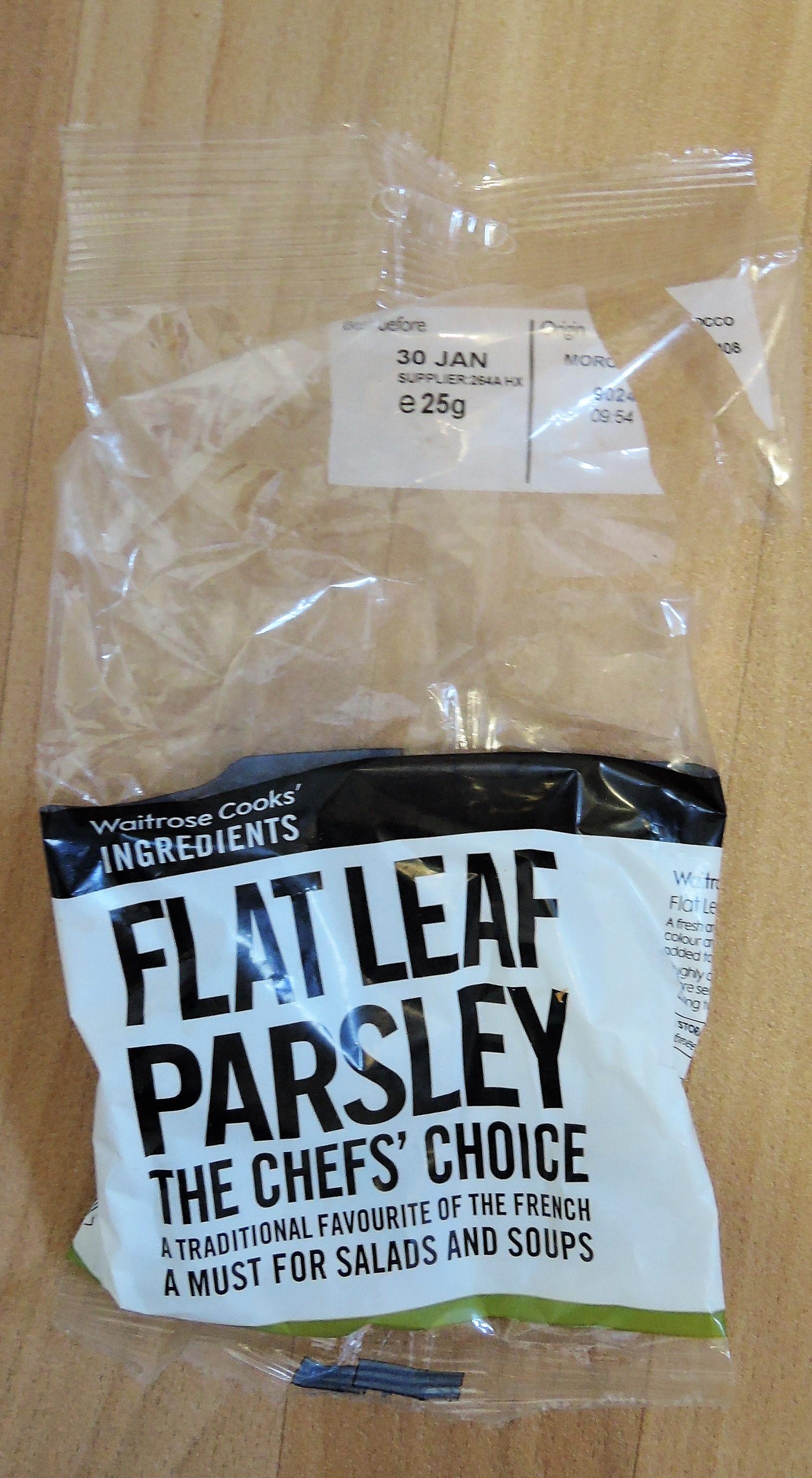 Fresh herb plastic film packagin