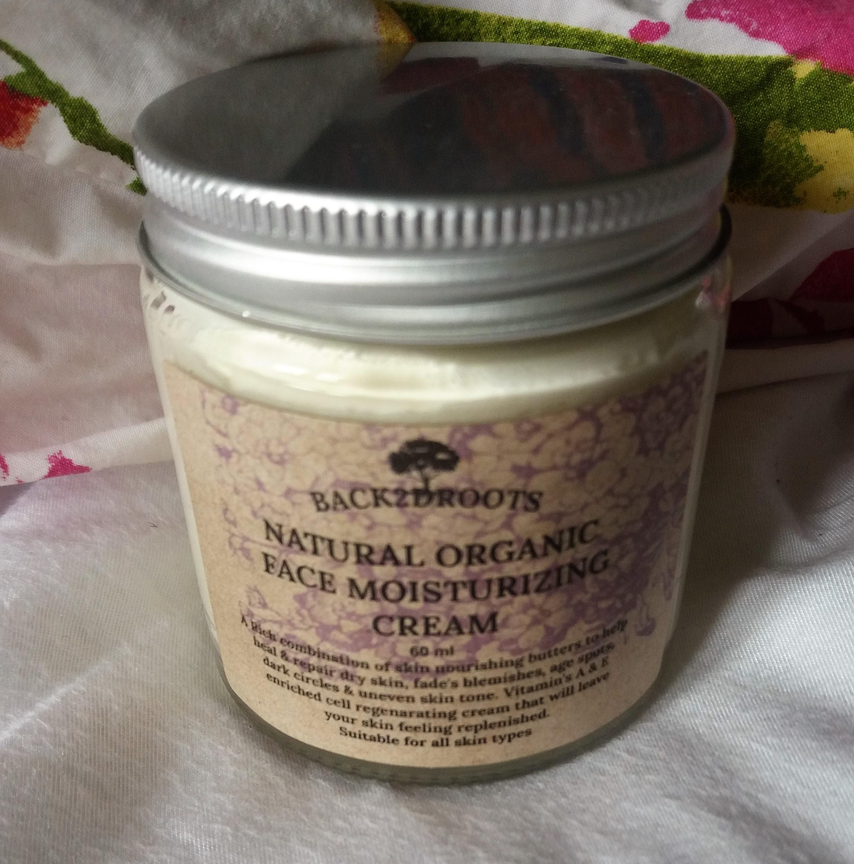 Natural Organic Face Moisturizing Cream