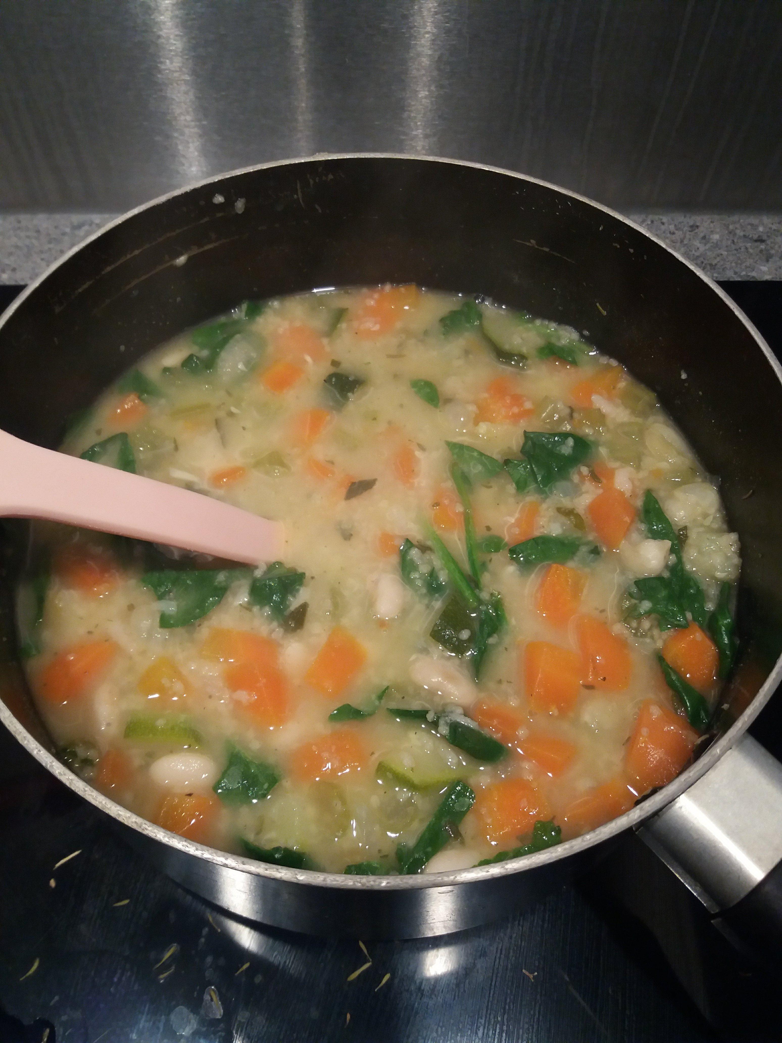 Vegan White Bean Vegetable Soup